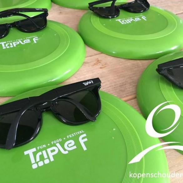 Zonnebrillen & Frisbees bedrukken