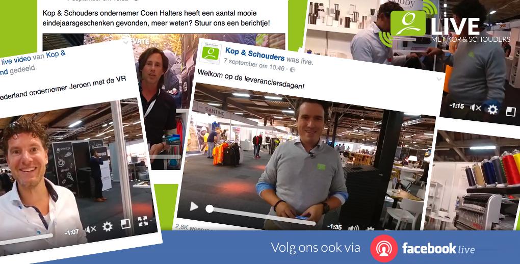 Kop & Schouders debuteert in de markt met Facebook LIVE